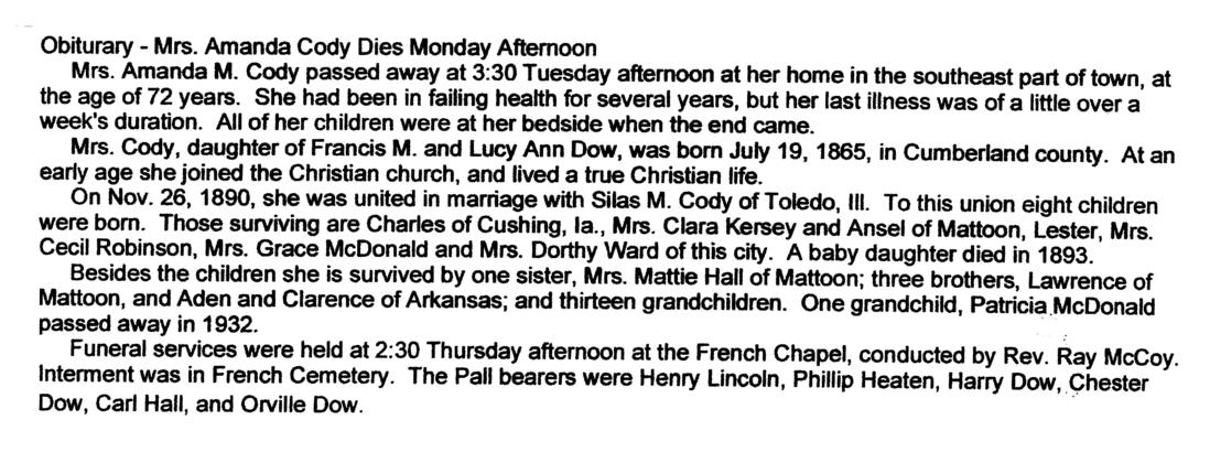 Moultrie Obituaries: A to F